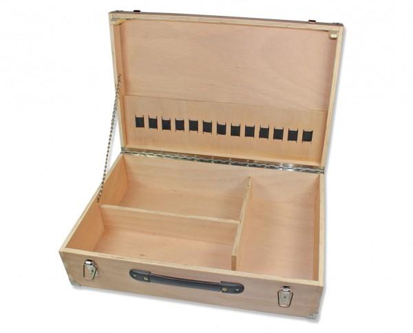 Werkzeugkoffer Holz 59 x 39 x 17 cm offen
