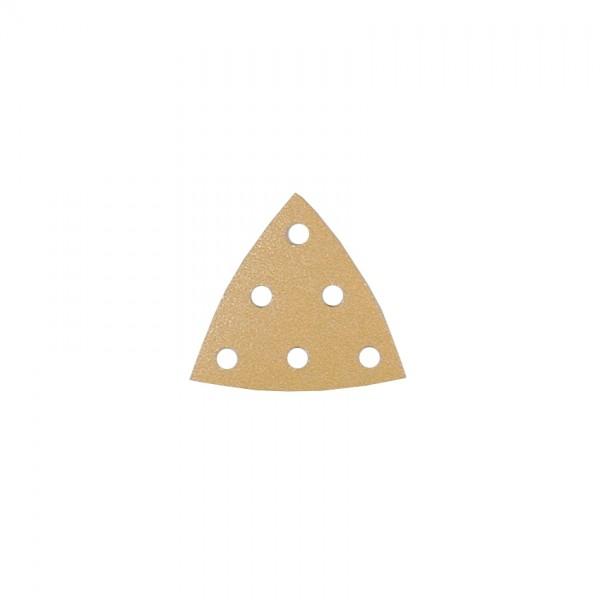 Dreieck-Schleifpapier, Kletthaftung, 6 Löcher 8508040